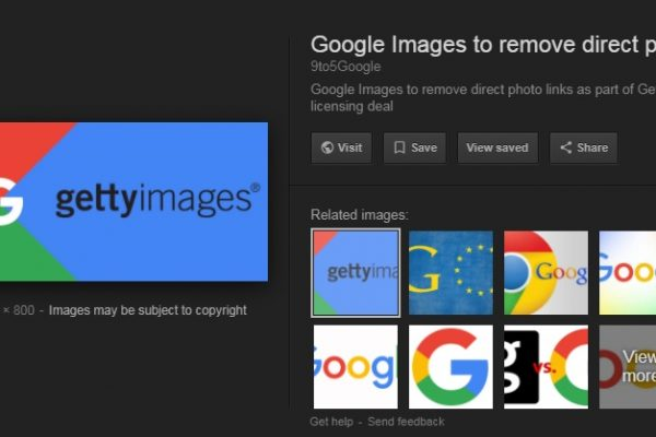 Google Image Search removes the 'View Image' button.
